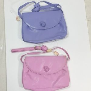 Handbags - 2 handbags Pink  blue peach crossbody bag shoulder